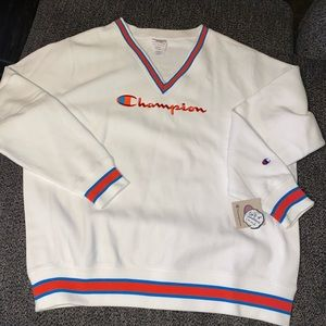 Champion V Neck Sweater size